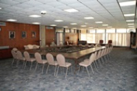 GMercyU's Waldron Board Room is the perfect spot to host a meeting or dinner.