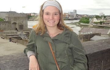 GMercyU accounting student Holly McHugh