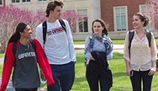 Students walking at GMercyU
