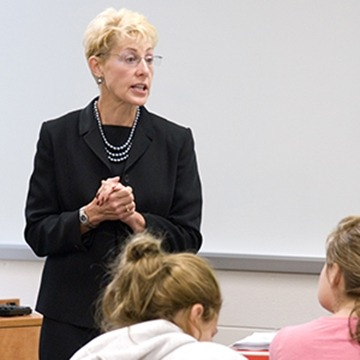 Deb Schadler teaches special education at Gwynedd Mercy University